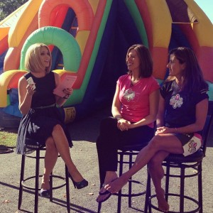 INTERVIEW: http://youtu.be/umI7_E4rx-w  That's an inflatable slide behind me — just 1 of the obstacle course activities happening at next month's 'Sanity Charity' for Women's Fund! Get all the deets in my interview w/ Jenn from Newport Mansions & Kyra from Women Run!