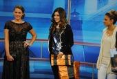 Left: Sonya's Clothing Dress/Bag; Center & Right: Anthropologie Outfit/Kent Stetson Bag,
