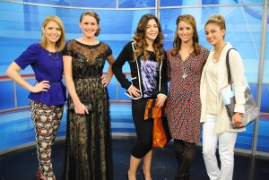 L to R: Meaghan Mooney (Host/Contributor), MacKenzie (model), Kristi Beaman (model & makeup/hair stylist), Michaela Johnson (Host), Britany (model)