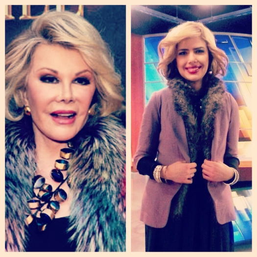 Meg as Joan Rivers